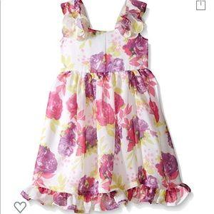 Blueberi boulevard girls floral chiffon dress 3t